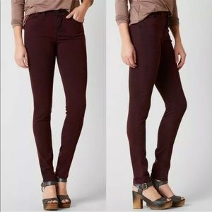 Kancan Burgundy Wine Black Undertones Skinny 29